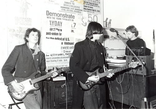 The Cabs rehearsing at their studio, Western Works, Sheffield, 1977