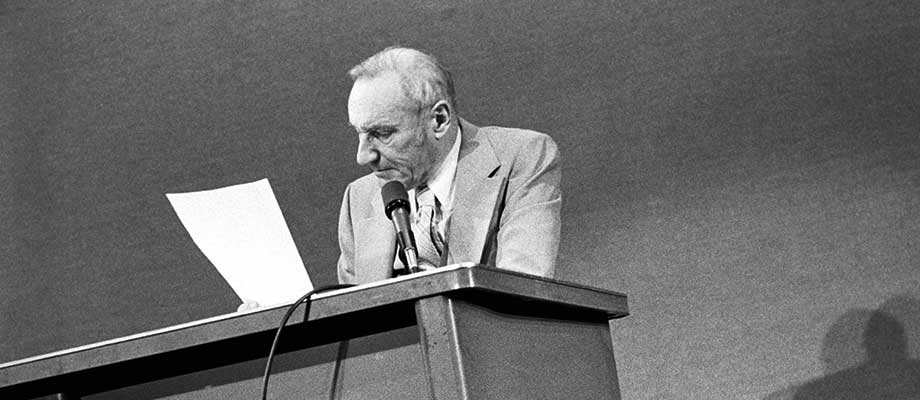 William Burroughs at the Nova Convention, 1978.