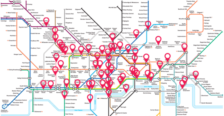 sound map of the london underground network launched