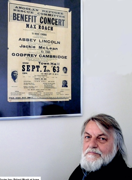 Robert Wyatt and the Angolan Refugee Rescue Committee benefit concert poster from 1963