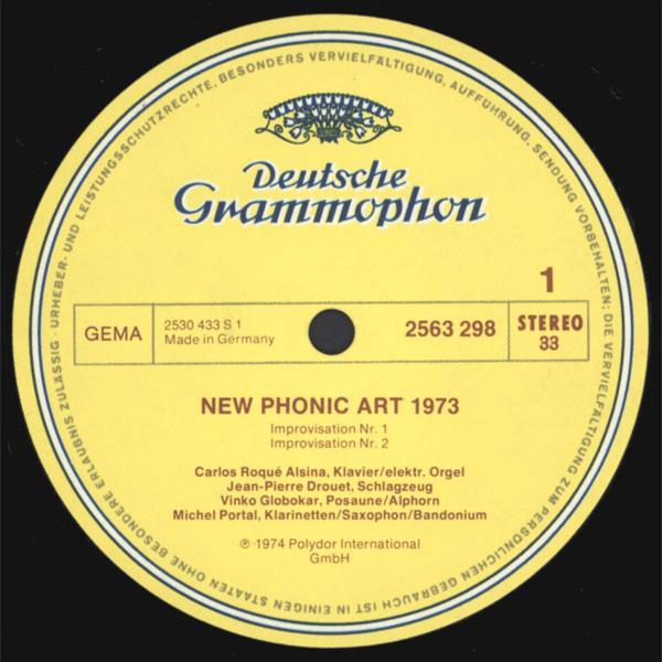 New Phonic Art 1973 Iskra 1903 Wired Free Improvisation