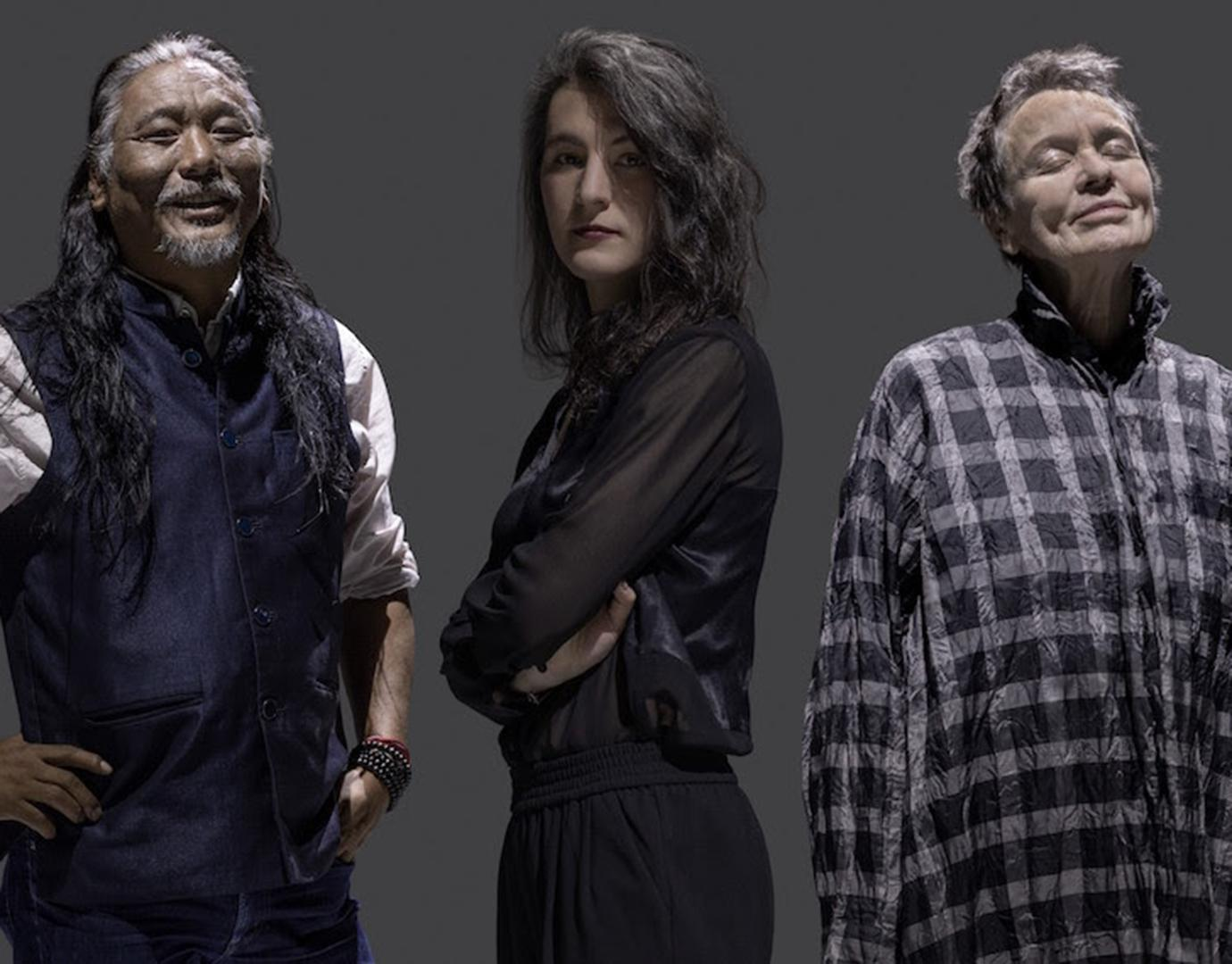 Laurie Anderson, Tenzin Choegyal and Jesse Paris Smith collaborate