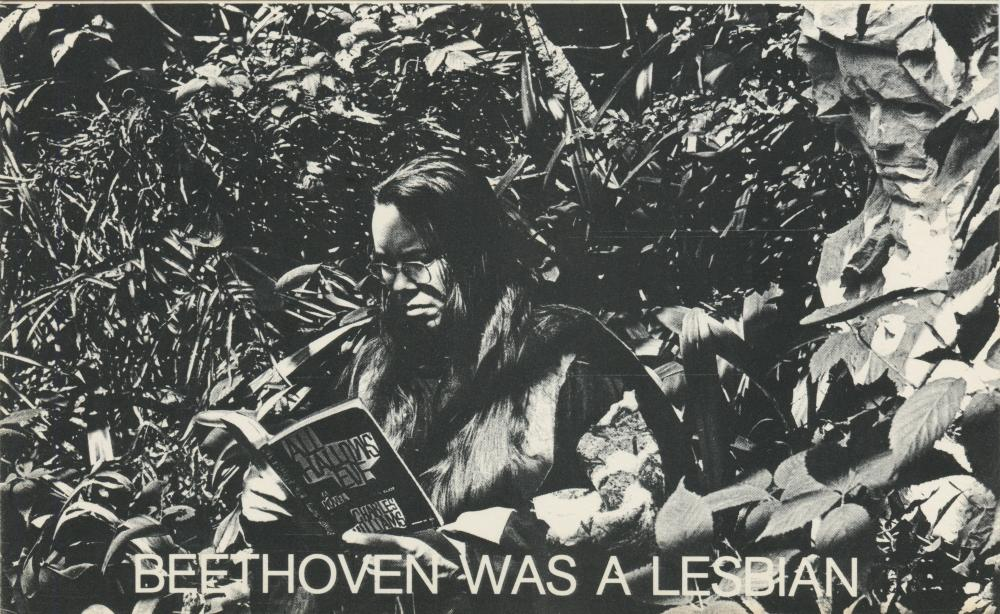 Heres Composeress Pauline Oliveros Sitting In Her Garden Reading A Book Its All Hallows Eve By Charles Williams 1945 Novel Which Two Women Roam An