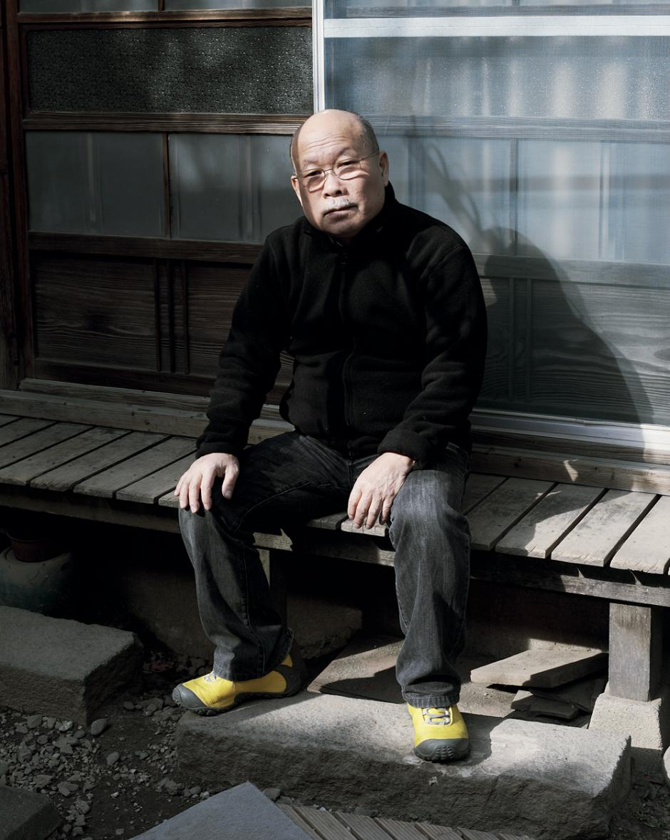Akira Sakata at home in Warabi, Japan, February 2014