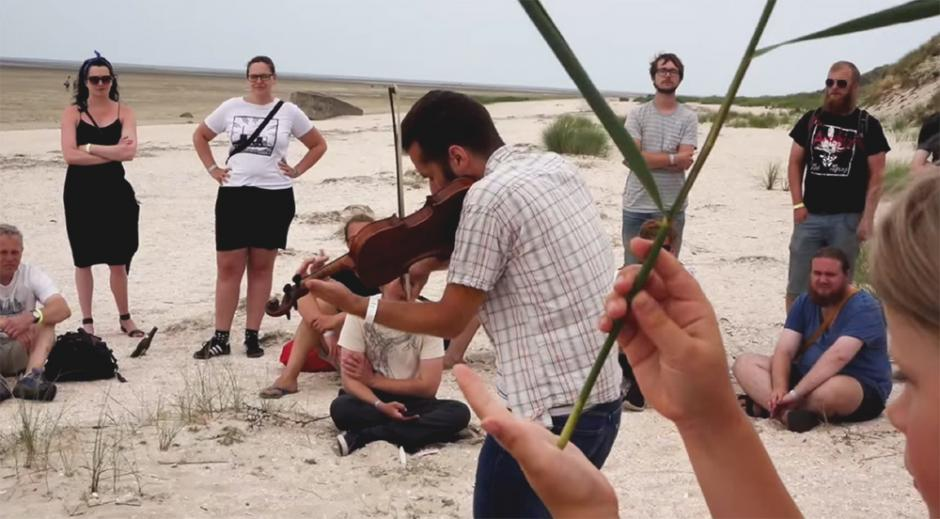 Still from a short video of Fanø Free Folk Festival 2014, by Lars Wass