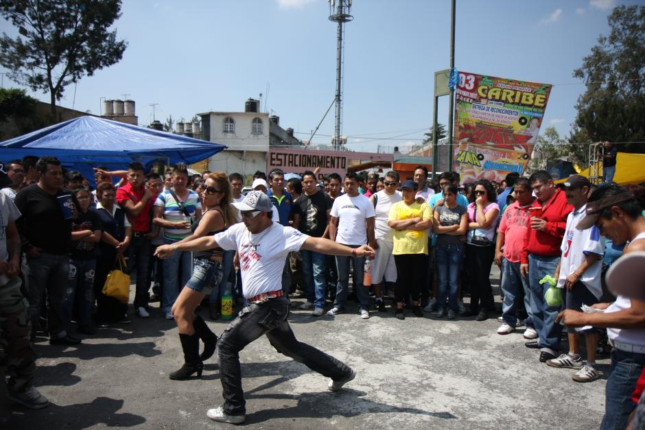 Couple dancing at a cumbia sonideros in the Tepito neighbourhood, Mexico City, 2012
