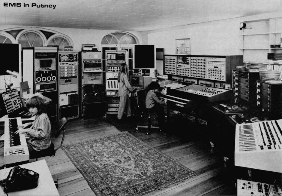 Peter Zinovieff's Electronic Music Studio in Putney, London