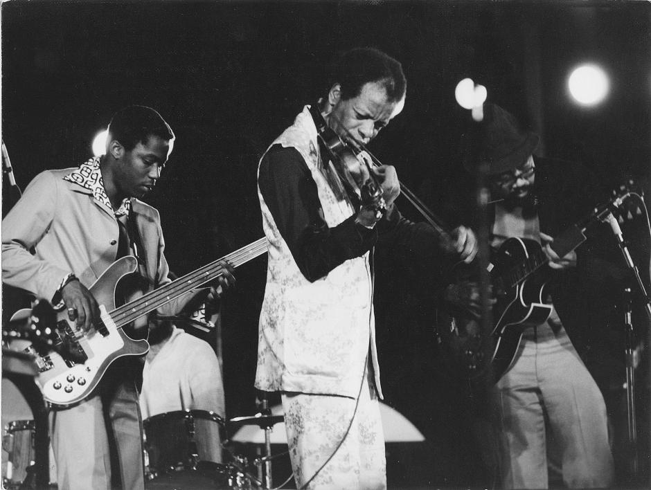 Ornette Coleman with Prime Time circa mid-1970s. Photo: Gérard Rouy