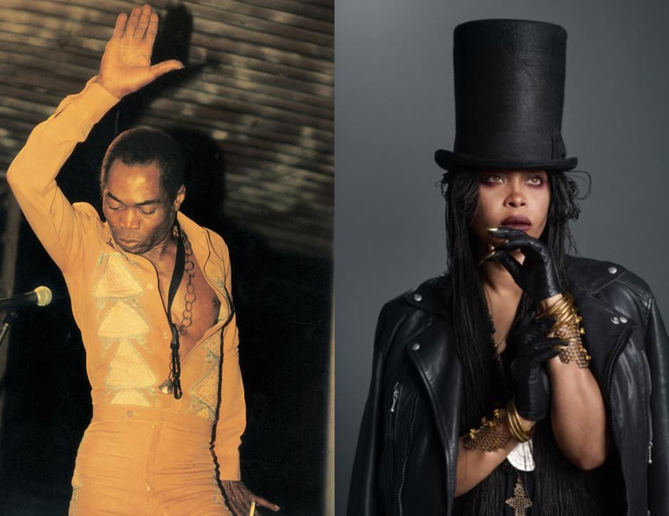 Fela Kuti and Erykah Badu