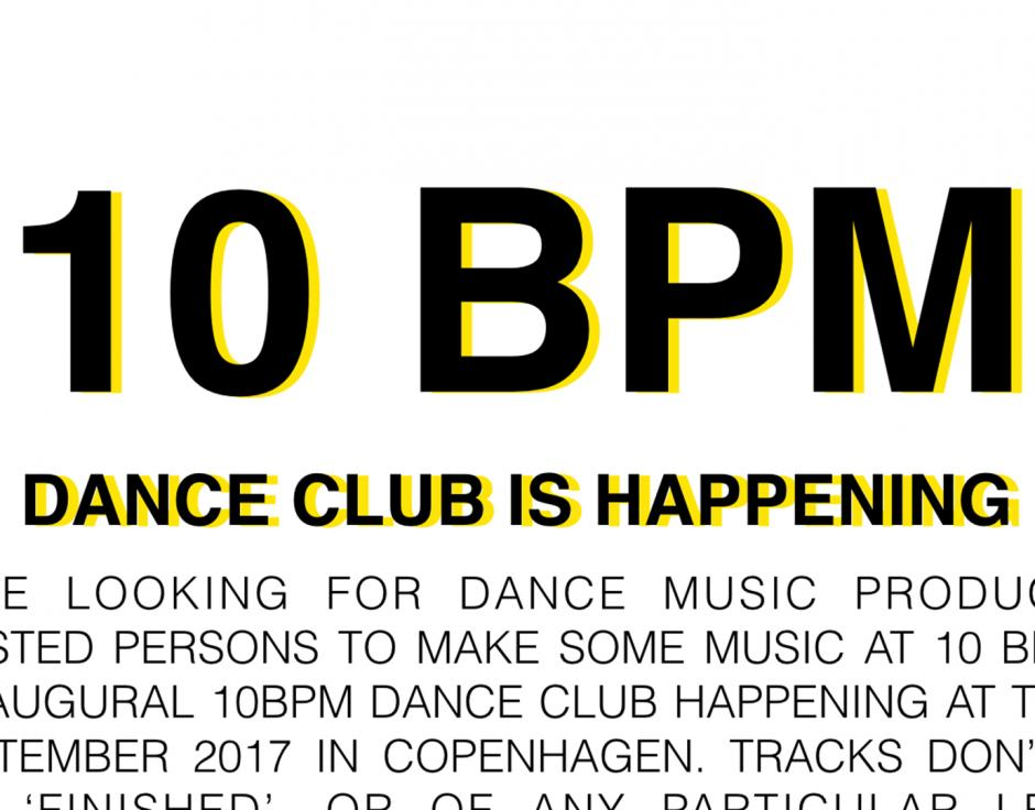Copenhagen club night calls for new music made at 10 bpm - The Wire
