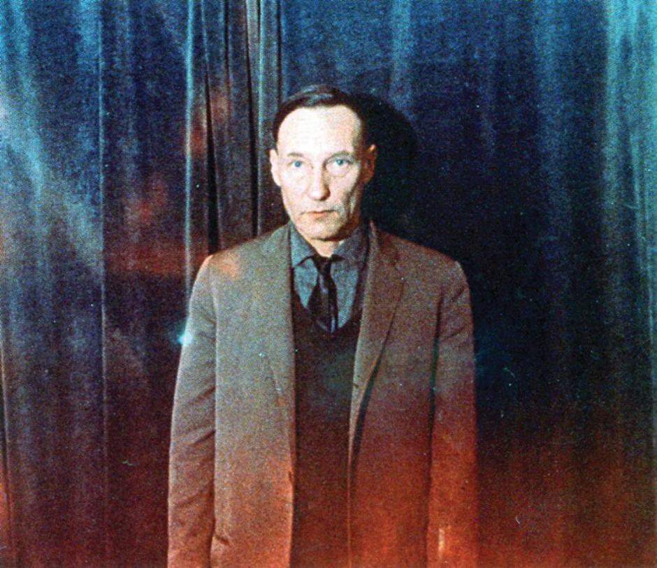 William Burroughs photographed by Brion Gysin