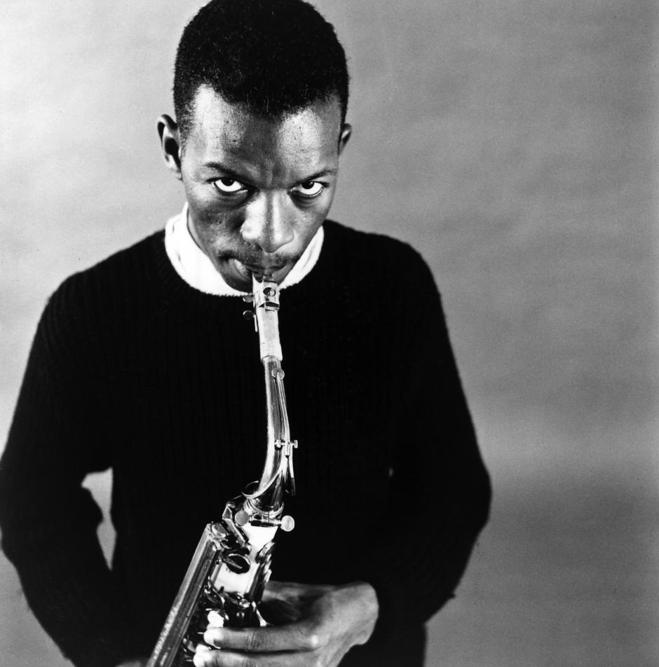 Ornette Coleman in the late 1950s. Photo; William Claxton/Courtesy Demont Photo Management